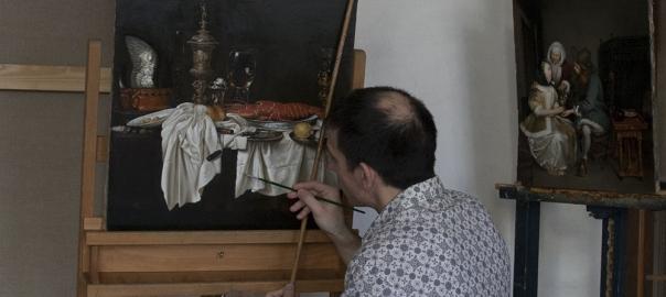 """Копирование картины """"Натюрморт с крабом"""" П.Хеда, художник Гареев М.М."""