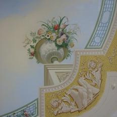Роспись потолка в загородном доме