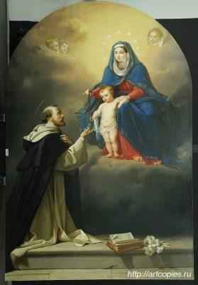 Картина после реставрации «Явление Мадонны Святому Доменику»