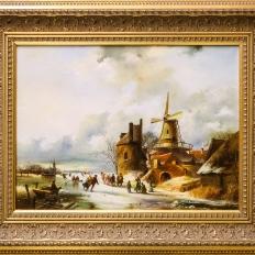 """Купить картину """"Зимний голландский пейзаж""""."""