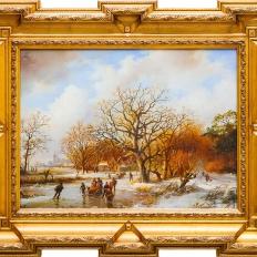 Зимняя Голландия. Копии картин маслом на заказ.