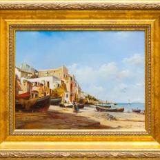 Итальянский берег. Купить копию картины морской пейзаж.