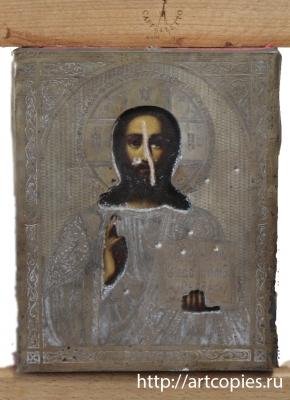 икона в окладе до реставрации