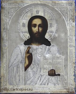 икона в окладе после реставрации