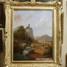 Andreas Schelfhout Landscape with Ruin