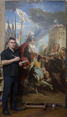 Копирование картины Тьеполо «Кориолан под стенами Рима»