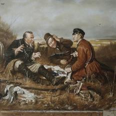 """В.Г.Перов """"Охотники на привале"""""""