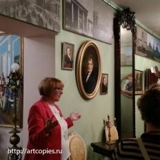 """Копия картины в интерьере музеяСПб ГБУ """"Нарвская застава""""."""