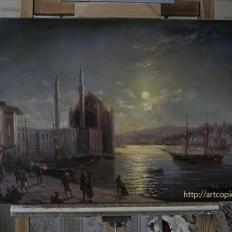 Копия картины И.К.Айвазовского «Ночь на Босфоре»