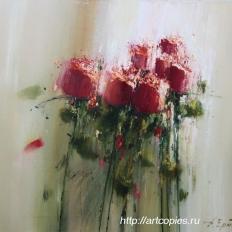 """Ермолов Д.Н. """"Red roses"""" 80-90см 2010г"""