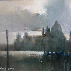 """Ермолов Д.Н. """"Венеция. Городской пейзаж. Гранд канал"""". Холст. масло 85х105 см Купить картину на холсте"""