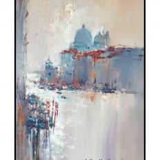 Ермолов Д.Н. Городской пейзаж. Вид на собор. Холст. масло 60х80 см Купить современную картину