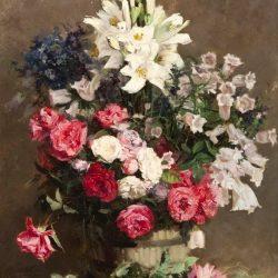 Цветочный натюрморт Eugene Petit Копии картин