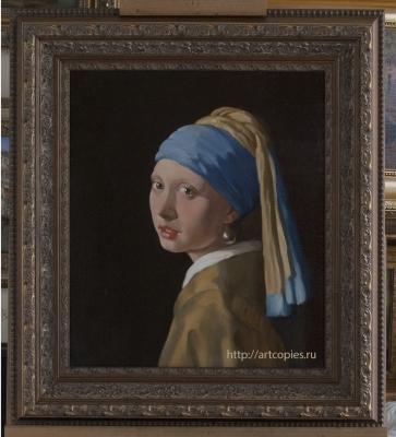 """Копия картины """"Девушка с жемчужной серёжкой"""" Вермеер, Ян"""