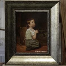 """Копия картины """"Молящаяся девочка"""" Hippolyte Assadoun"""