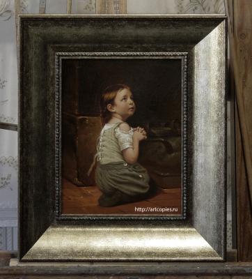 Копия картины «Портрет молящийся девочки» Hippolyte Assadoun
