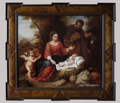 6 этап Мурильо, Бартоломео Эстебан - Отдых святого семейства на пути в Египет Копии картин известных художников