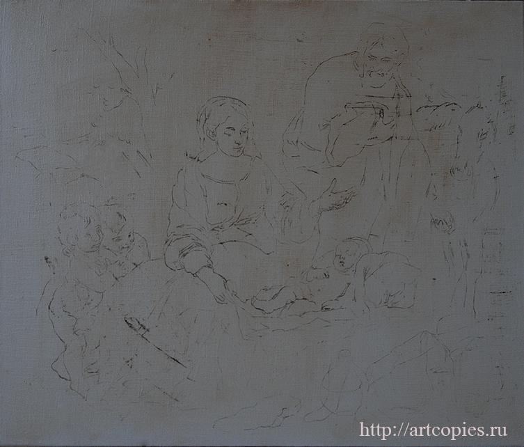 1-этап Мурильо, Бартоломео Эстебан - Отдых святого семейства Копии картин известных художников