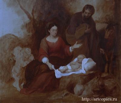 4 этап Мурильо, Бартоломео Эстебан - Отдых святого семейства на пути в Египет Копии картин известных художников