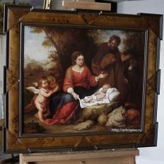 Копия картины «Отдых святого семейства на пути в Египет» Мурильо, Бартоломео
