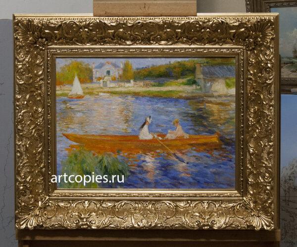 """Копия картины П.Ренуар """"Лодка на Сене"""""""