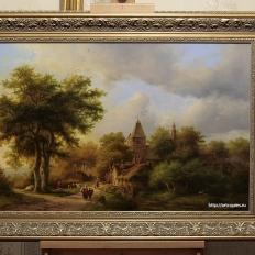 """""""Пейзаж с сельской дорогой"""" Koekkoek, Barend Cornelis"""