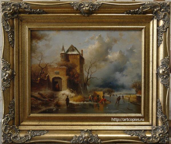 Старая крепость. Зимний Голландский пейзаж. Шумайлов Д.А.