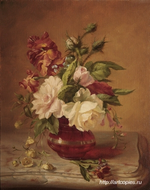 Шумайлов Д.А. Цветы в вазе на мраморном столе.