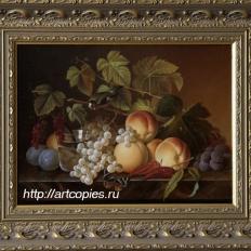 Натюрморт с персиками и виноградом. Гареев М.М.