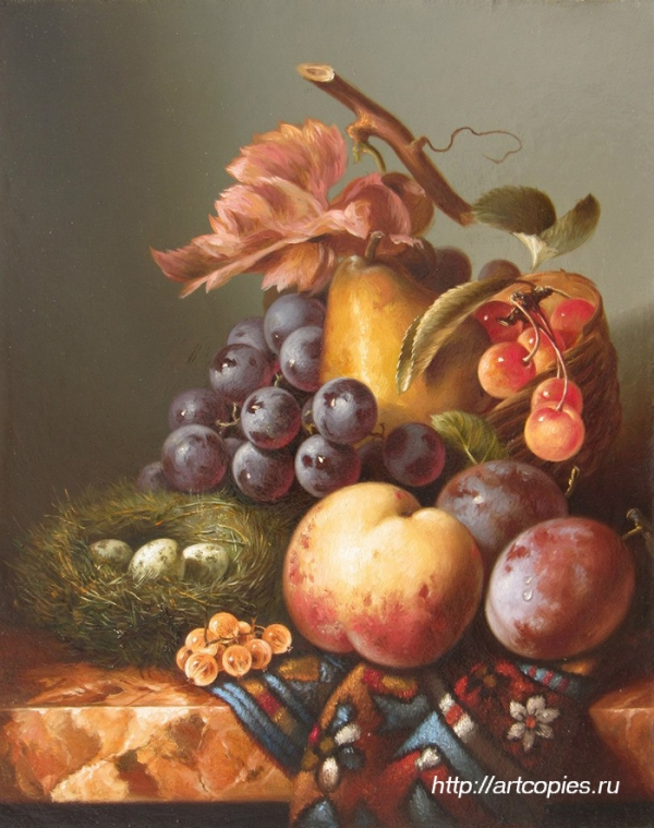 Натюрморт с персиком и гнездом. Гареев М.М.