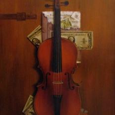 Натюрморт со скрипкой. Гареев М.М.