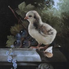Гареев М.М. Натюрморт с птенцом.