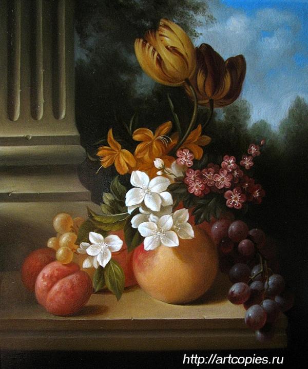 Натюрморт с фруктами и цветами. Гареев М.М.