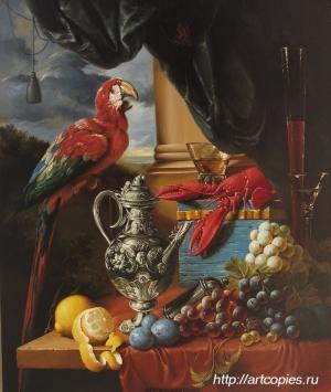 Натюрморт с попугаем. Гареев М.М.