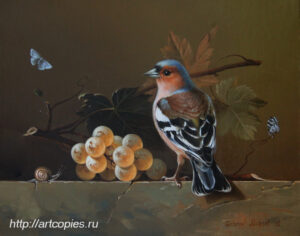 Натюрморт с птицей и виноградом. Гареев М.М.