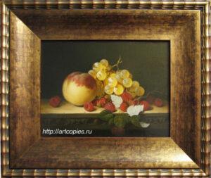 Гареев М.М. Натюрморт с персиком и виноградом.