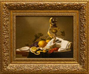 Шумайлов Д.А. Натюрморт с лимоном, трубкой, бокалом.