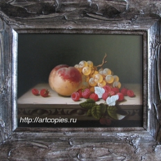 Гареев М.М. Натюрморт с персиком, виноградом, малиной.