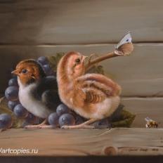 Гареев М.М. Натюрморт с птенцами.