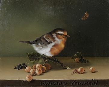 Гареев М.М. Натюрморт с птицей и ягодой.
