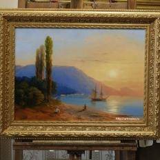 Копия картины И.К.Айвазовского «Восход над Ялтой»