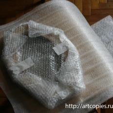 4-этап Оборачиваем картину в вспененную пленку в несколько слоёв