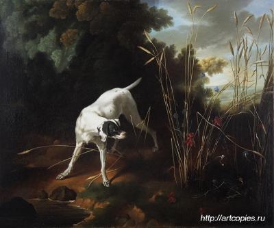 """Копия картины """"Собака с битой дичью"""" Jan Batist Udri"""