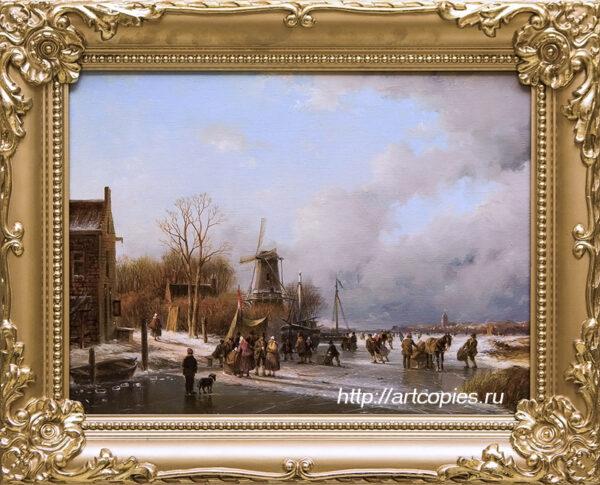 Забавы на коньках. Зимний Голландский пейзаж. Шумайлов Д.А.