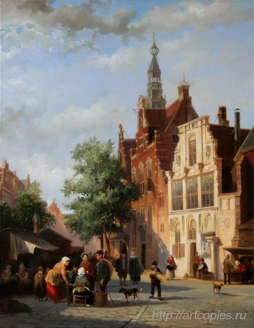 Городской рынок. Голландский пейзаж. Шумайлов Д.А.