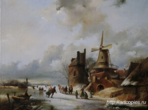 Сцены на коньках. Зимний Голландский пейзаж. Шумайлов Д.А.