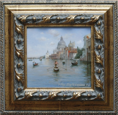 """Купить картины современных художников. """"Виды Венеции, гандольеры на большом канале"""""""