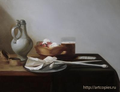 """""""Натюрморт с трубками и жаровней"""" Купить копию картины"""