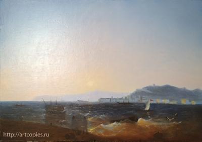 3-этап Копия картины И.К. Айвазовского «Керч»