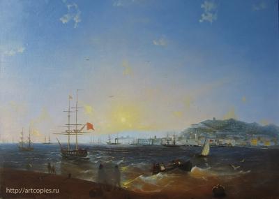4-этап Копия картины И.К. Айвазовского «Керч»